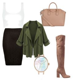 """Military jacket"" by aleksaaryal on Polyvore featuring Gianvito Rossi, River Island and Givenchy"