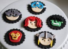 Avengers-Themed Fondant Toppers  for Cakes, Cupcakes or Other Edibles.... $34.99