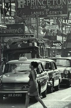Lady & Taxi - Late 60s by eternal1966b, via Flickr