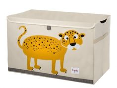 Every child's room needs a toy chest. Where would teddies live otherwise? The 3 Sprouts toy chest is ideal for all their toys, or shoes, or books. Hello Charlie - 3 sprouts  leopard toy chest, $49.95 (http://www.hellocharlie.com.au/3-sprouts-leopard-toy-chest/)