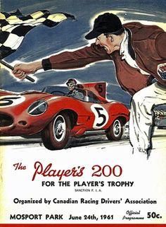 1961 Mosport Park car racing poster