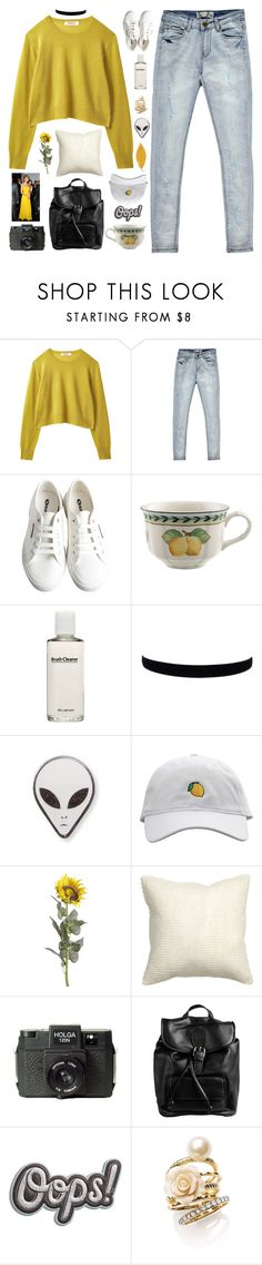 """""""☾ the battle of the color schemes - round one"""" by thundxrstorms ❤ liked on Polyvore featuring Boohoo, Superga, Villeroy & Boch, shu uemura, Pier 1 Imports, H&M, Holga, Doucal's, Anya Hindmarch and Ariella Collection"""