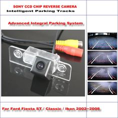 HD CCD SONY Rear Camera For Ford Fiesta ST / Classic / Ikon Intelligent Parking Tracks Reverse Backup NTSC RCA AUX 580 TV Lines #Affiliate