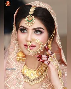 Makeup 😍😍😍👏👏👏❤❤❤ Another perfectionist in town 😍😍😍 &nbs Indian Wedding Bride, Indian Wedding Makeup, Indian Bridal Outfits, Pakistani Bridal Wear, Indian Bridal Fashion, Indian Makeup, Indian Weddings, Bridal Nose Ring, Bridal Makeup Looks