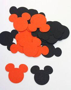 100 Black & Orange Halloween Mickey Mouse by SammysCraftShop, $2.50