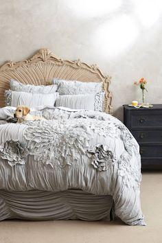 Georgina Duvet, complete home with puppy on bed Dream Bedroom, Home Bedroom, Master Bedroom, Bedroom Decor, Bedroom Setup, Bedroom Ideas, Home Design, Interior Design, Interior Decorating