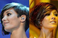 30 Short Hairstyles for Winter: Frankie Sandford Asymmetrical Hair