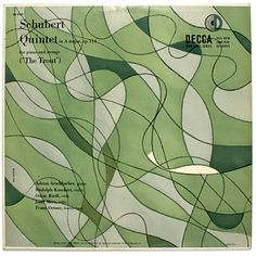 """Schubert Quintet in A Major (""""Trout"""") Label: Decca DL 9707 (1953) Design: Erik Nitsche."""