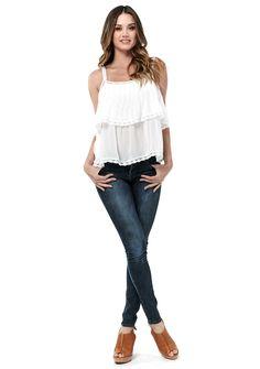 Delilah Tank Top #adjustable-strap #billowy #bohemian #bohemian-fashion #bohemian-festival #bohemian-inspired-fashion #bohemian-style #california-style #chic #coachella #coachella-fashion #coachella-style #coachella-top #cream #delicate #every-day #everyday #fall-fashion #fashion #fashion-forward #femminine #festival #festival-clothing #festival-cloths #festival-fashion #festival-style #festival-top #flouncy #flower-child #flowy #free-flowing #free-spiriit #hippie #hippie-fashion…