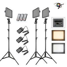 Aputure Amaran HR672KIT(HR672S HR672S HR672C) 672 LED Photo Video light Panel LED lighting Kit+3* 2M Light Stand+4*Battery+3*Charger just $746.99 by Free Shipping