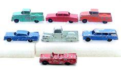 Vintage 7x Tootsie Pressed Steel Toys Trucks Falcon Wagon Plymouth Cars NICE #TOOTSIE #TRUCKSCARS