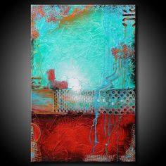 Pintura abstracta con textura de 24 x 36 urbano por FariasFineArt