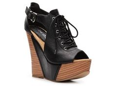 2 Lips Too Too Chaos Wedge Bootie; $49.95