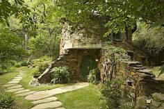 Unique Natural-Themed House from Ancient Time: Gorgeous Dallas Fantasy Project Exterior With Lush Vegetations ~ gozetta.com Architecture Inspiration