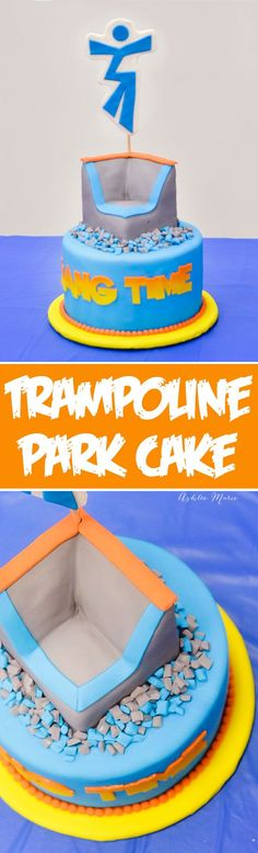 A Hand Carved Cake For Local Trampoline Warehouse