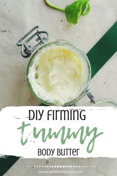 Homemade Body Butter, Homemade Skin Care, Diy Skin Care, Homemade Beauty, Homemade Facials, Homemade Products, Natural Skin Tightening, Skin Tightening Cream, Body Firming Cream