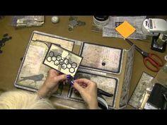Altering Tim Holtz Large Folio - inside photos, Part 10 - YouTube