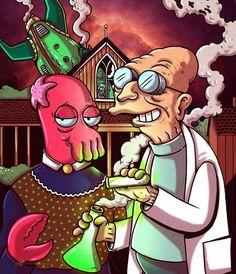 Zoidberg & Professor Farnsworth, Futurama