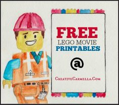 Creative Carmella: Bryce's Lego Movie Party & Free Lego Movie Printables too!