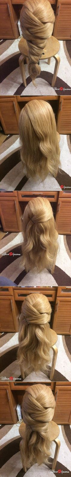 Fashion & Style… ♥ Deniz ♥ - New Hair Hair Day, New Hair, Girl Hairstyles, Braided Hairstyles, Pretty Hairstyles, Frozen Hairstyles, Fashion Hairstyles, Wedding Hairstyles, Hair Designs