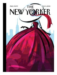 Fashion Drawing City Flair - The New Yorker Cover, May 2013 Poster Print by Birgit Schössow at the Condé Nast Collection - New Yorker May 2013 by Birgit Schoessow The New Yorker, New Yorker Covers, New Yorker Mode, Capas New Yorker, Image Republic, Illustrator, Tableaux Vivants, Delta Girl, Plakat Design