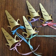 Unicorn Headband. Unicorn Crown Horn. Handcrafted in 1-3 Business Days. Unicorn Party Favors for Rainbow Party. Set of 5 or More.