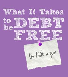 How Zina is getting out of $28K in debt on $30K a year! Here's what it takes to be debt free when you don't make a ton of money.