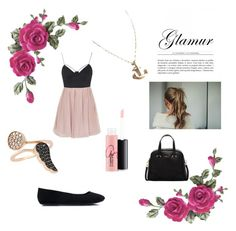 """""""# Glamour"""" by isbeautifulgirl ❤ liked on Polyvore featuring Topshop, Furla, Amorium, MAC Cosmetics, women's clothing, women, female, woman, misses and juniors"""