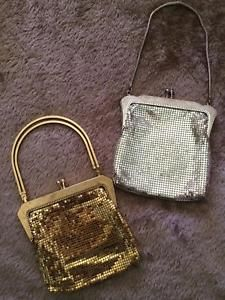 d2054182ac42 2 x Vintage OROTON Glomesh Evening bags (gold and silver)