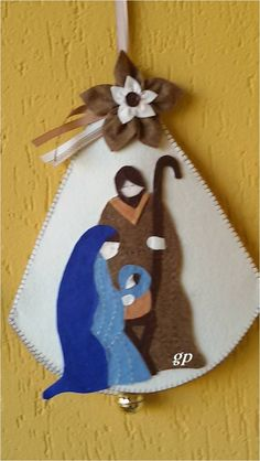 2019 Personalized Santa Baby's First Christmas Ornament Baby First Christmas Ornament, Felt Christmas Decorations, Christmas Ornaments To Make, Christmas Nativity, Babies First Christmas, Christmas Art, Christmas Colors, Nativity Ornaments, Nativity Crafts