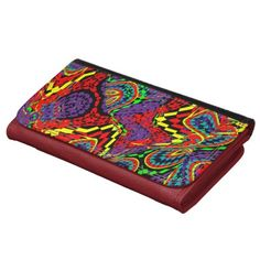 Multicolored Carnival Time Bright Abstract Pattern Wallet red ladies purses