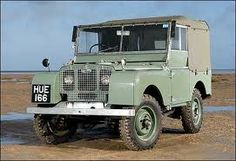 The original Land Rover designed by Maurice Wilks. The passenger seat was an extra!!
