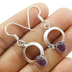 This is a beautiful 925 silver plated metal dangle earring set. It is very fashionable jewelry.this is img Amethyst Stone, Ethnic Fashion, Earring Set, 925 Silver, Silver Plate, Dangle Earrings, Dangles, Fashion Jewelry, Metal