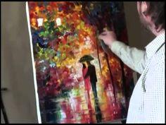 Igor Sakharov . Disegna Notturna vicolo. Lezioni di pittura e disegno