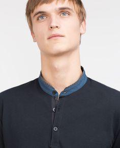 MAO COLLAR POLO SHIRT-Polo shirts-MAN   ZARA United States
