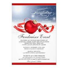 Elegant Holiday Fundraising Event Flyer Template  Fundraiser And