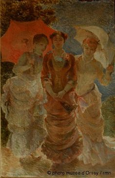 Marie Bracquemond Trois femmes aux ombrelles.