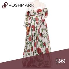 Plus Floral Chiffon Sheer Dress Maxi Wrap Long NEW Featuring a beyond gorgeous full length maxi gown. This dress screams feminine beauty! Perfect for all your Spring festivities! Beautiful floral print on a sheer chiffon material. See though long sleeves, backside and bust areas. We recommend pairing with one of our bandeaus for extra coverage. Relaxed flowly sweep fit. Wrapped bodice and tied waist. From a high end vendor.    * View our store for other color options! *  Made of: 100%…