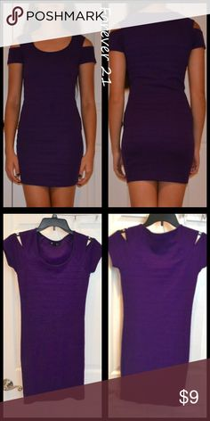 🆕Fitted Purple Dress! Forever 21 purple dress with shoulder cutouts. Never worn and in great condition! Forever 21 Dresses