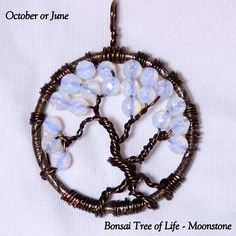 October's Other Birthstone - Captured in Moonstone Which is Very Like Opal, by K for 'Trifles & Whimsy' on Etsy.