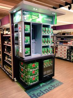 Heineken fixture at Tesco Kensington                                                                                                                                                                                 Más