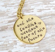 Proverbs 31 Woman Necklace (thought about this a lot today; I would want this in silver, though.)