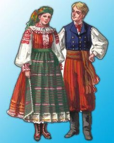 Traditional outfit of the White Forest residents survived until World War II, although only part of the Pułtusk.  Ostrów area resigned from the traditional costumes at the very beginning of the twentieth century, which was influenced above all, a very low standard of living in this region