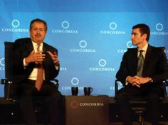 Andrew Liveris, President, Chairman and CEO, The Dow Chemical Company,Ari Matusiak, Special Assistant to the President and Director of Priva...