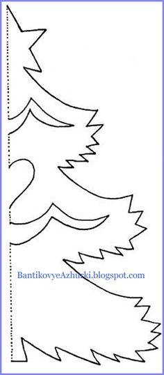 Новогодние картинки из бумаги схемы шаблоны