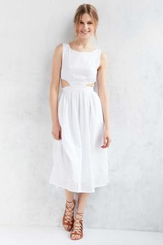 Objects Without Meaning For UO Cutout Midi Dress