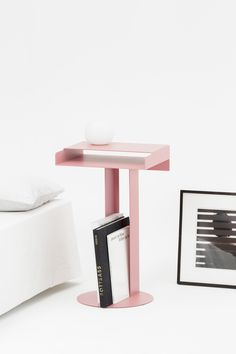 The Meta side table is one of New Tendency's signature pieces and ideally suited to all living spaces. Consisting of a series of arranged, powder coated rectangular and circular shapes, Meta's appearance changes from delicate and thin, to substantial and