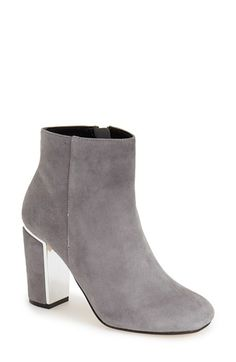 Free shipping and returns on Dune London 'Otta' Ankle Bootie(Women) at Nordstrom.com. Metallichardware flashes at the inner heel of an elevated ankle bootieshaped from lush suede.