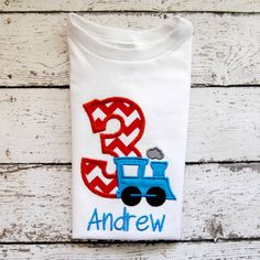 Personalized Train Birthday Shirt or body suit by OoeAndAuti, $14.00