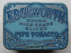 EDGEWORTH TOBACCO TIN 1930s TOP by Christian Montone, via Flickr